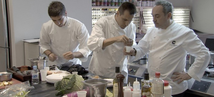 From left, El Bulli chefs Eugenio de Diego and Oriol Castro with
